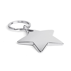Star Shape Metal Keychain
